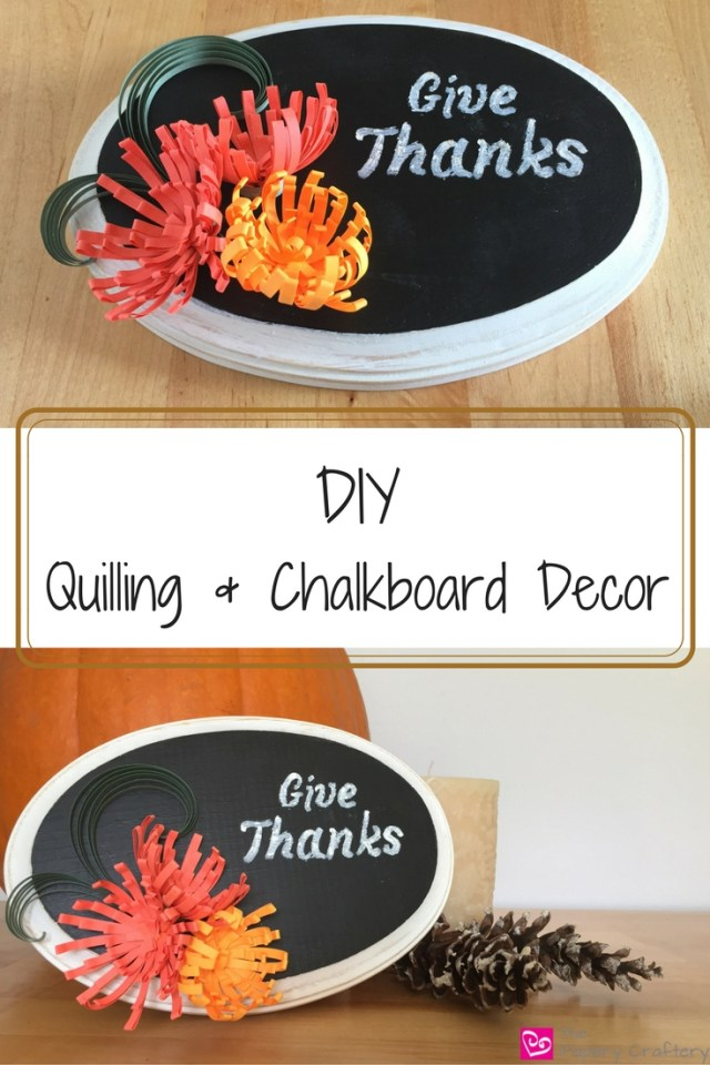 diy-quilling-chalkboard-decor-art Chalkboard Decor with Quilling Paper Art
