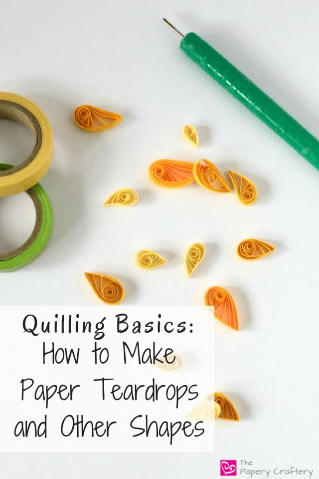 How to make quilling paper teardrops marquise shapes