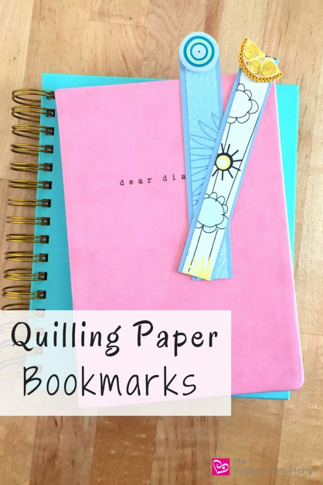 Quilling Paper Bookmarks ~ Make some quick bookmarks from your quilling pieces to keep your pages in your favorite books! || www.thepaperycraftery.com