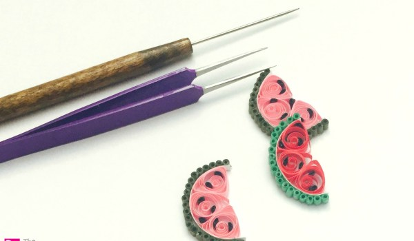 Quilling Paper Watermelon ~ A simple summer quilling craft for scrapbooks and cards    www.thepaperycraftery.com