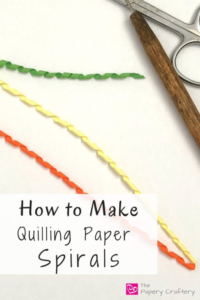 How to Make Quilling Paper Spirals ~ Long and twirly, quilling paper spirals can be used where ever you need a tube in your quilling crafts || www.ThePaperyCraftery.com