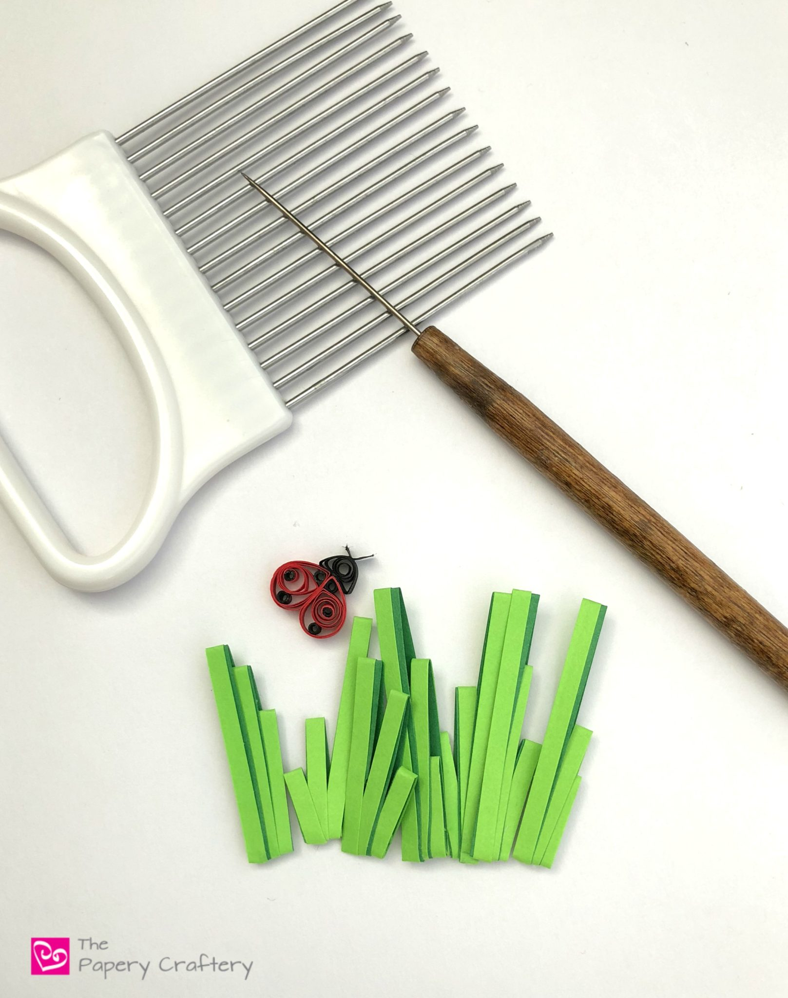 Simple Quilling Paper Grass ~ Make Easy Two Toned Grass For