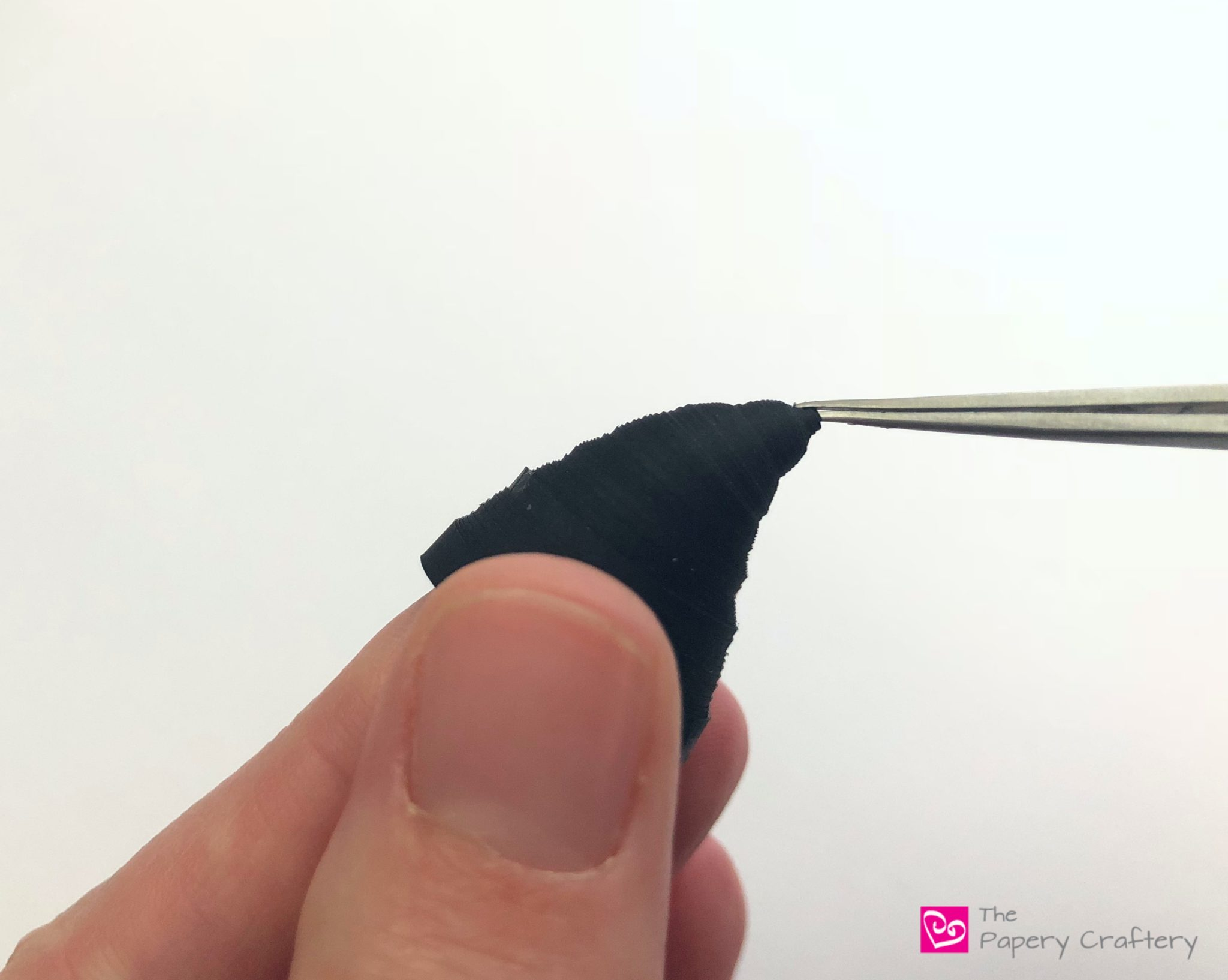 Apply glue to the rest of the inside with a brush to keep the tip in place.  How to Make Quilling Paper ... 4e978a763e6c