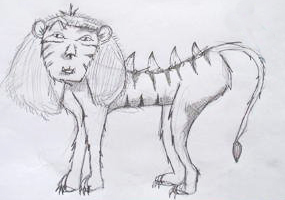 Liger, pretty much favorite animal - bred for its skills and magic