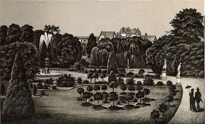 Gardens of the asylum.
