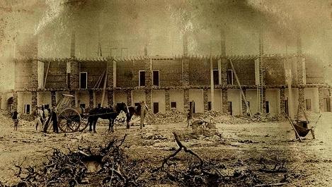 Demolition of Bathurst Gaol in 1880.