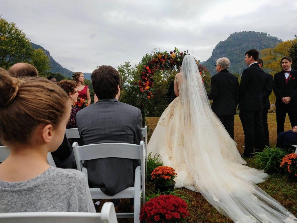 Lake Lure NC wedding at the Lake Lure Inn