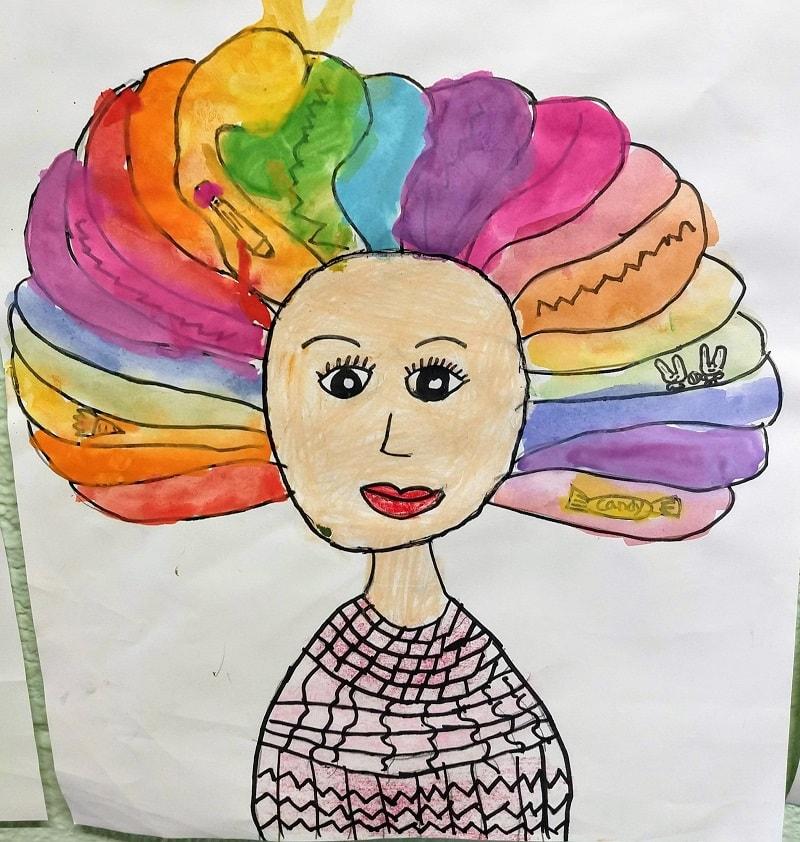 Colorful lady artwork