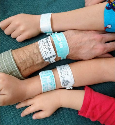 Great Wolf Lodge & Kalahari wrist bands