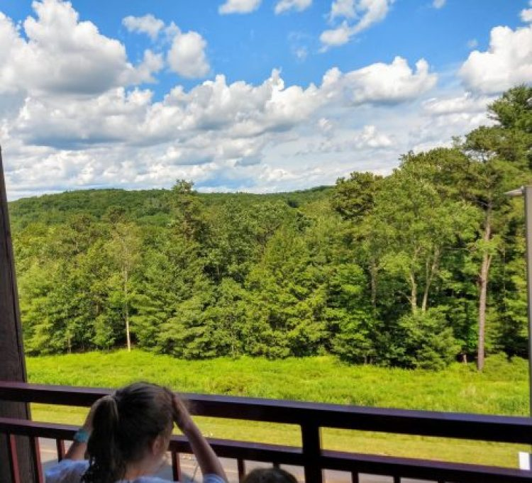 Themed kidcabin suite @ Great Wolf Lodge Poconos Balcony view