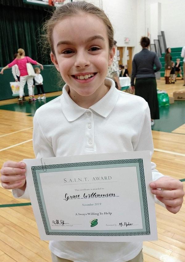 Gracie SAINT Award November 2019