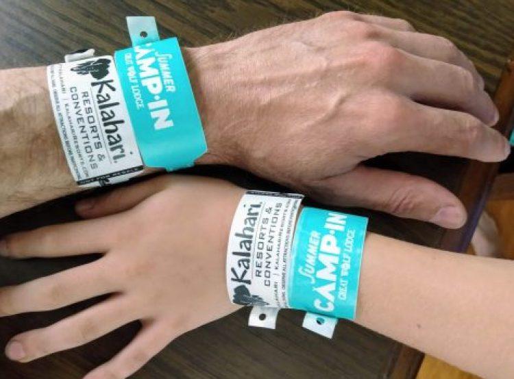 Wristbands for Great Wolf Lodge & Kalahari