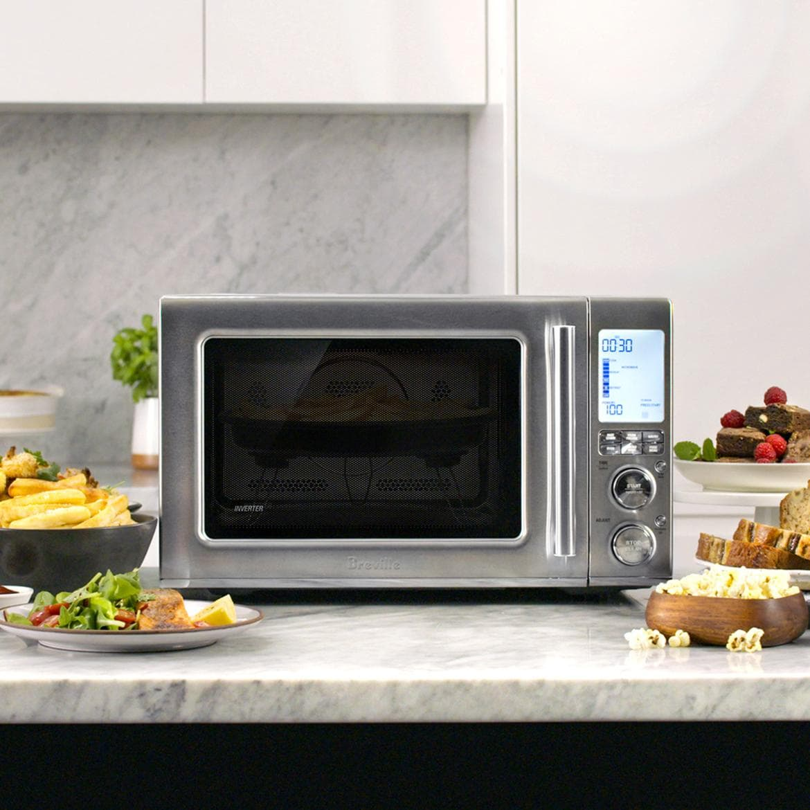 this microwave air fryer combo lets you