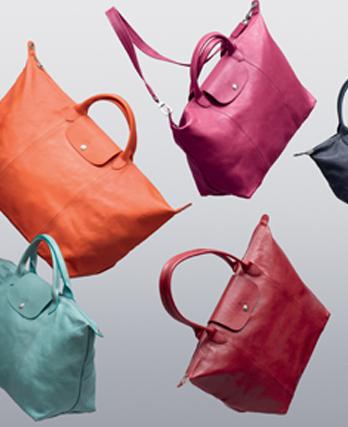 Le Pliage Longchamp cuir: en exclusivité aux Galeries