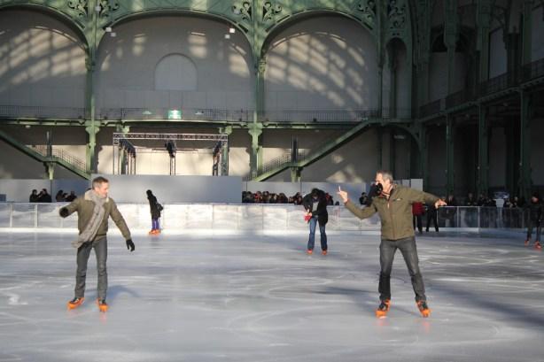patineurs patinoire éphémère grand palais paris