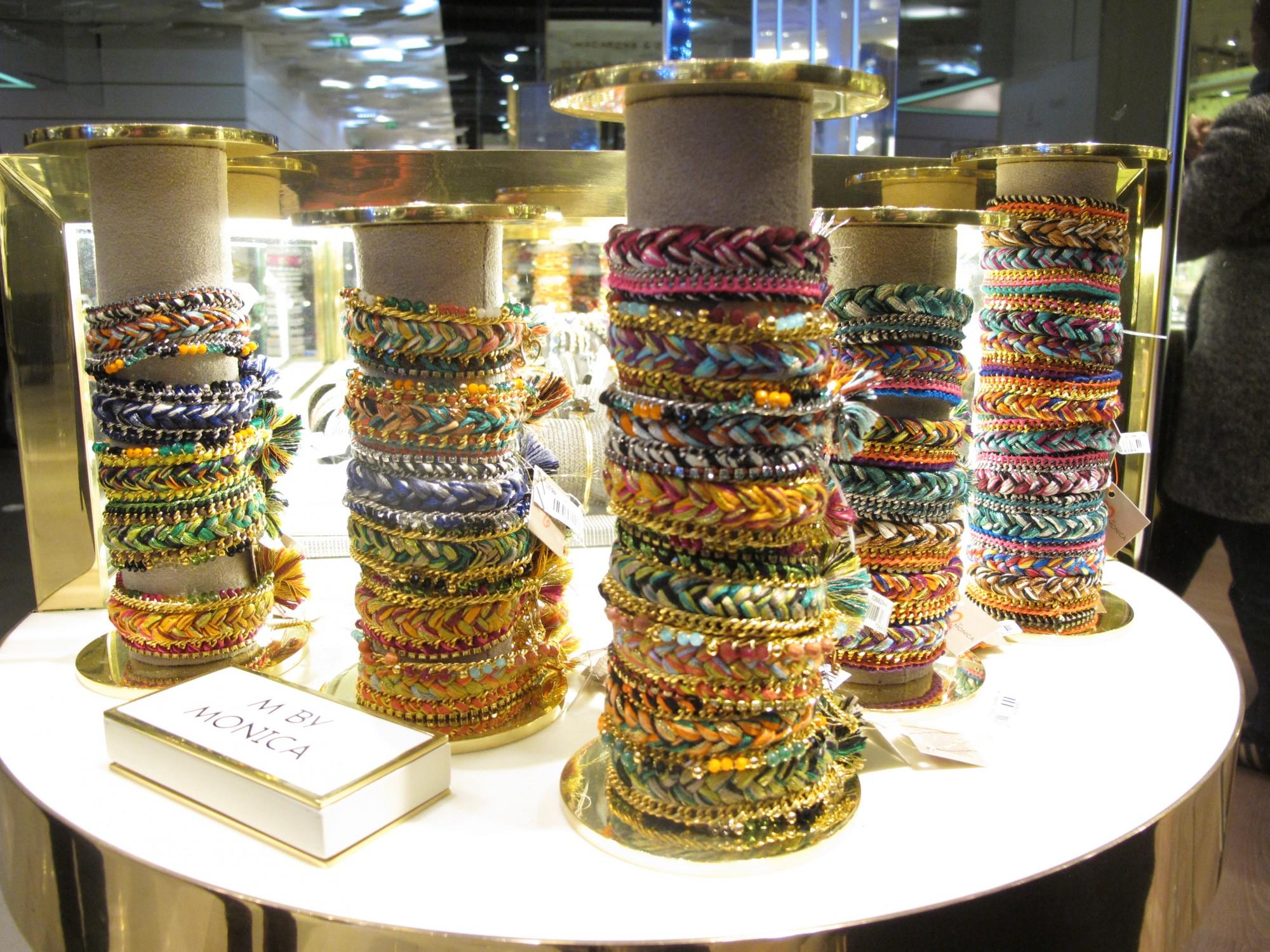 bracelets MO by Monica Galeries Lafayette