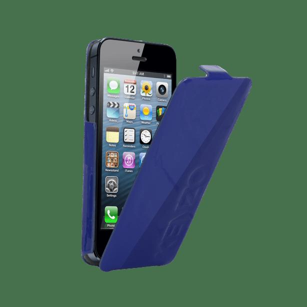coque IPHONE 5 Kenzo glossy bleue