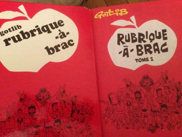 Rubrique-à-Brac l'original et la réédition