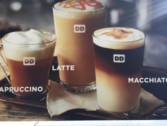 cafés vus par Dunkin Doughnut