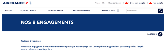 Air France - nos 8 engagements