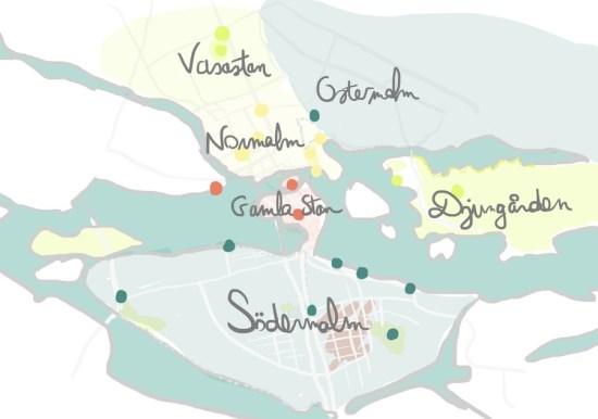 Stockholm - ses quartiers visuel les-escapades.fr