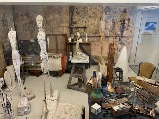 Institut Giacometti - l'atelier reconstitué