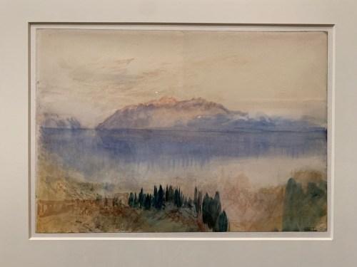 Lac Léman - graphite et aquarelle sur papier