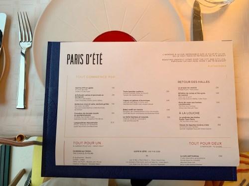 Le Tout Paris - carte d'été