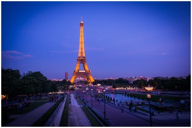 Romantic Paris ideas Sunset Eiffel Tower