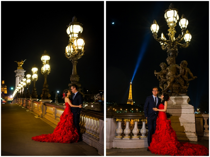 Pre wedding photo shoot Paris Alexander 3 bridge