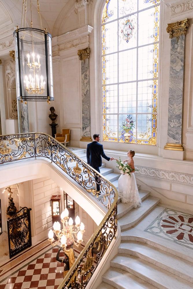 Paris Wedding Photographer – Shangri la Staircase