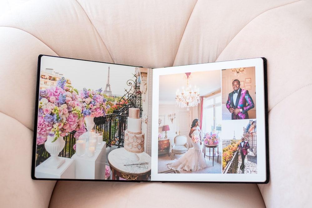 Paris photo album open spreads