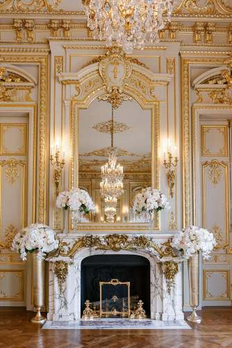 Wedding floral design at the Shangri La in Paris Luxury Palace