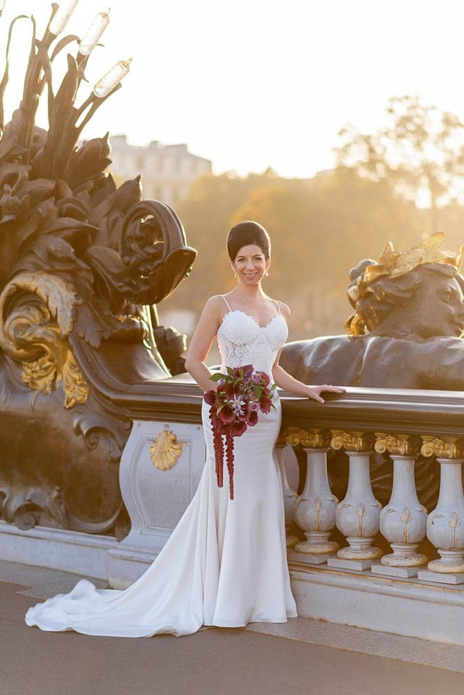 Hotel Crillon Paris wedding – Alexander 3 bridge portraits -3