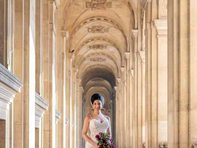Hotel Crillon Paris wedding – Louvre Museum portraits -2