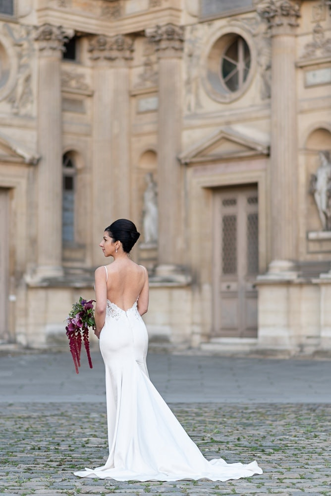 Hotel Crillon Paris wedding – Louvre Museum portraits -9