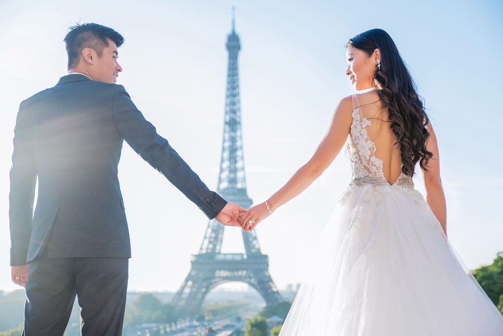 gorgeous pre wedding photography paris