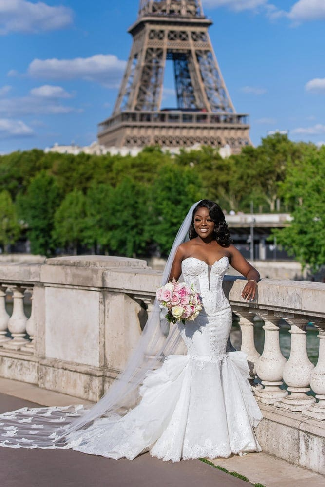 Plaza Athenee Paris Wedding – couples portraits Eiffel Tower-1