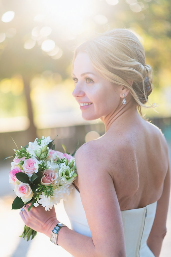 elope to paris - beautiful portrait of bride