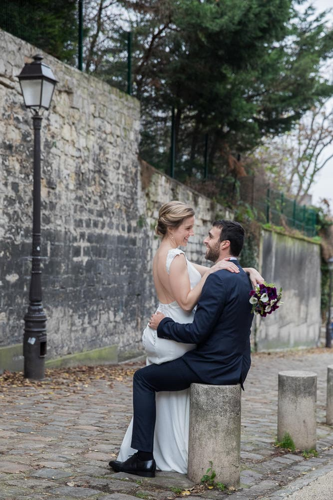 Romantic wedding photo shoot in Paris