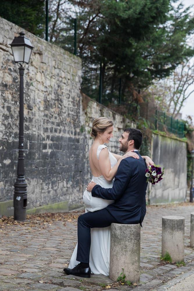Romantic wedding photo shoot in Paris