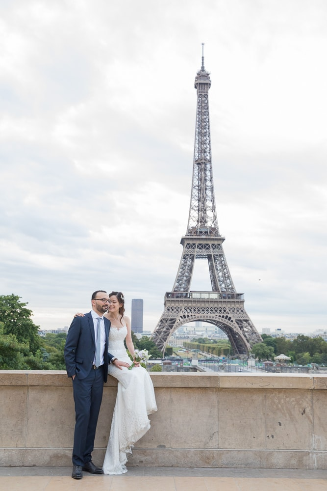 Wedding pictures in Paris