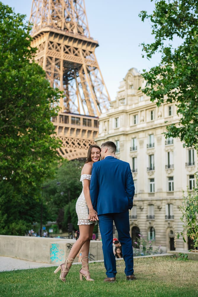 Couples Paris Phootshoot by the Eiffel Tower