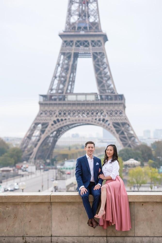 Paris engagement photos after proposal