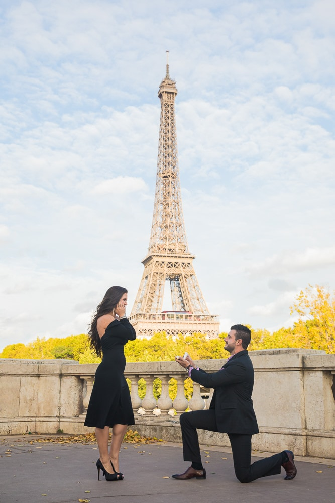 Secluded location to pop the question at the Eiffel Tower