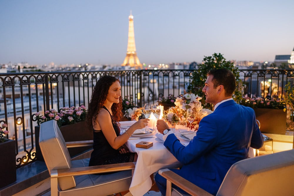 The Peninsula Paris private rooftop proposal