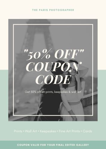 the paris photographer coupon code