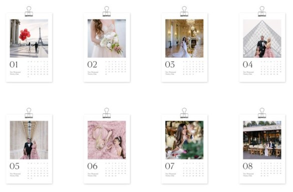 Personalized photo calendar layout 2