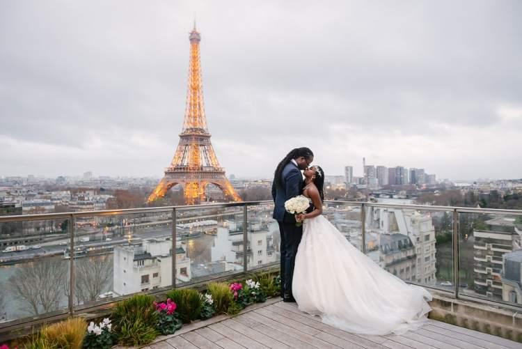 Paris wedding by the Eiffel Tower - Shangri La Hotel