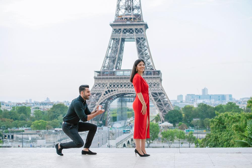 Eiffel Tower sunrise surprise proposal 10